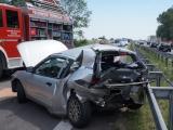 Schwerer Unfall auf A 24 bei Neuruppin-Süd - Vier Autos verunglückt - Mehrere Verletzte