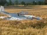 Kreis Minden-Lübbecke - Flugzeugabsturz in Porta Westfalica - Ultraleichtflugzeug stürzt ins Getreidefeld