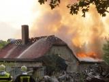 Havelland – Großbrand in Nauen-Börnicke – Gutsgebäude am WP-Ebereschenhof in Flammen