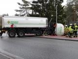 Schönwalde-Glien – LKW-Unfall auf L 20 – Gefahrguttransporter durchbricht Grundstücksumzäunung – Vollsperrung