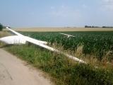 Flugunfall im Havelland - Segelflug auf Maisfeld in Nennhausen notgelandet