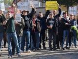 Demo/Mahnwache in Nauen - Lärm gegen rechts - NPD wurde lautstark am Tag der Deutschen Einheit (3.10.15) ausgepfiffen